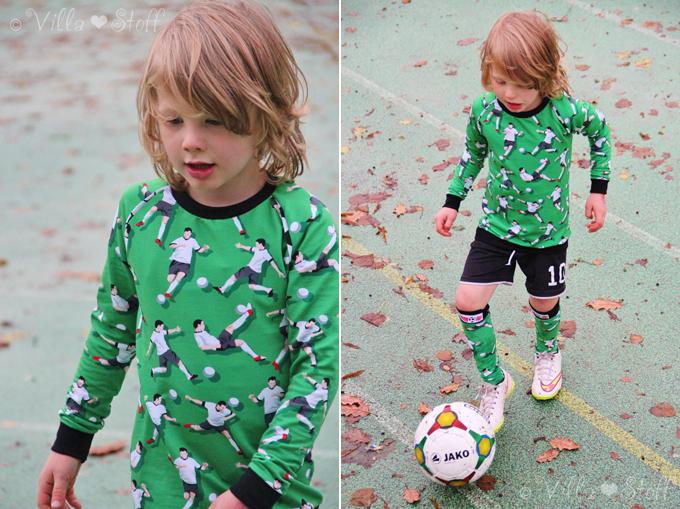 Nähanleitung | Fußball Stutzen - Socken - Kniestrümpfe nähen