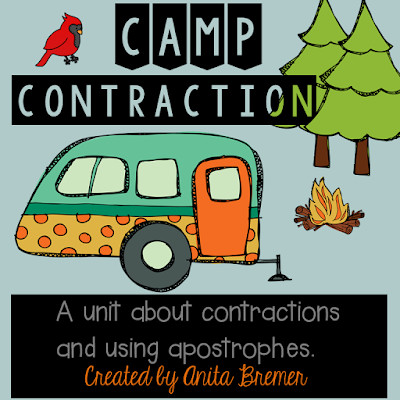 Camp Contraction: a unit about contractions and using apostrophes