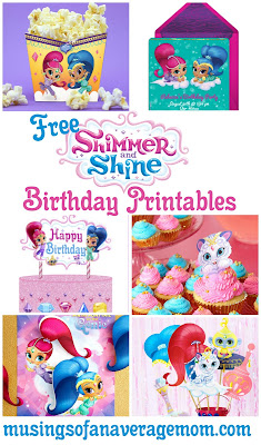 Shimmer and Shine Birthday Printables