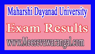Maharshi Dayanad University PGDCA (Annual) Ist Year 2016 Exam Results