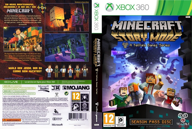 Capa Minecraft Story Mode Xbox 360