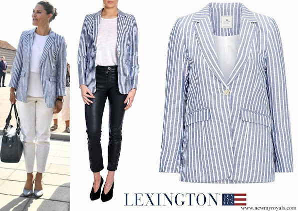 Crown Princess Victoria wore Lexington Kavaj Frida Linen Blazer