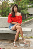 Rhea Chakraborty in Red Crop Top and Denim Shorts Spicy Pics ~  Exclusive 361.JPG