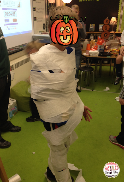 Kids love the mummy wrap game