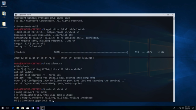 how to install kali linux on wsl