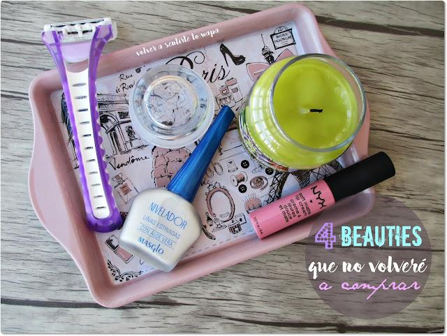 4 Beauty Productos que no volveré a comprar: Nyx - Masglo - Yankee Candle