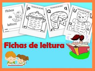 Fichas de leitura alfabetização