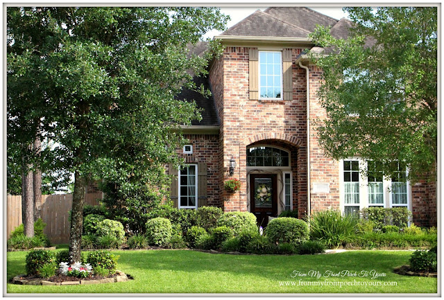 French Country Home-Curb Appeal- From My Front Porch To Yours