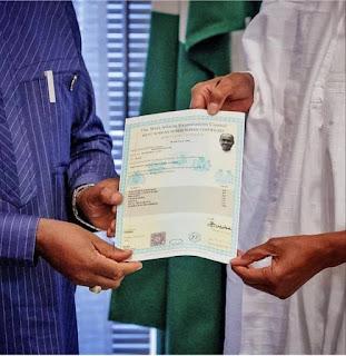 Buhari's WAEC Certificate