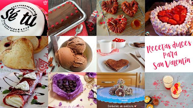 Dulces y postres para San Valentín