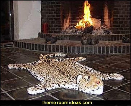 Huge Leopard Rug wild animal print bedroom decor  - leopard print decorating ideas- giraffe print - zebra print - cheetah bedroom decor - wild animal print decorating  - leopard print decor - leopard print walls -  tiger wall decal