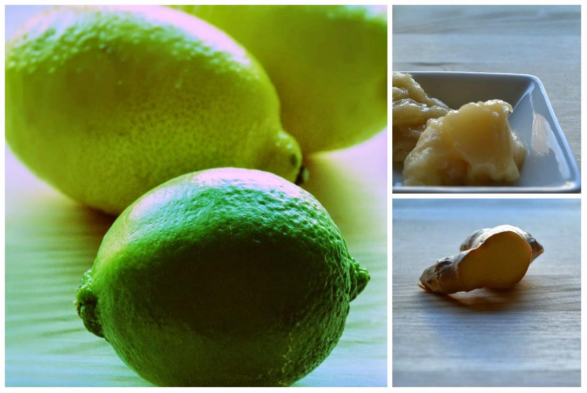 cytryna, limonka, imbir, miód