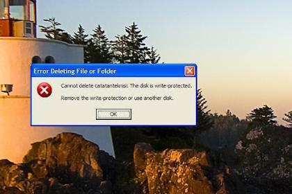 Memperbaiki Flashdisk Write Protected
