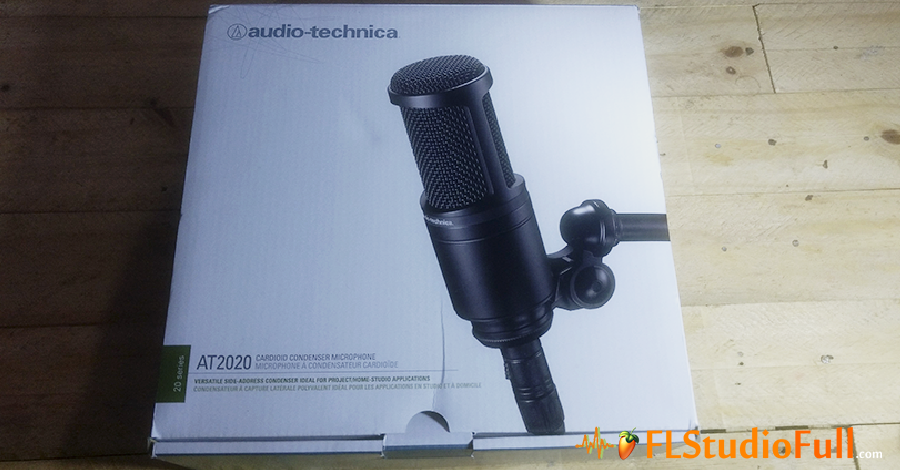 Microfone Condensador de Estúdio Audio Technica AT2020 - Caixa