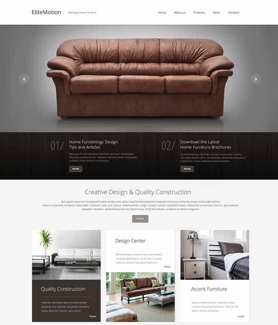 Interior Design Furniture Templates ~ Interior design furniture website templates