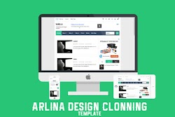 Download Template Arliana Design Gratis