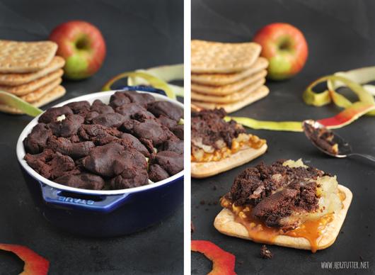 Schokoladen Apple-Crumble