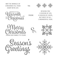 Snowflake Sentiments CLEAR Mount Stamp Set by Stampin' Up! order from Mitosu Crafts UK Online Shop