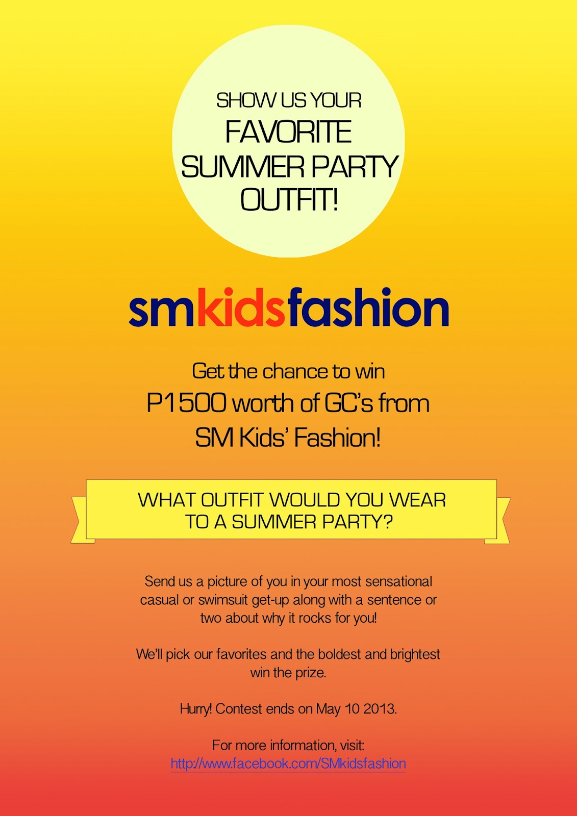 Sm Kids Fashion Summer Party Outfit Photo Contest Updated