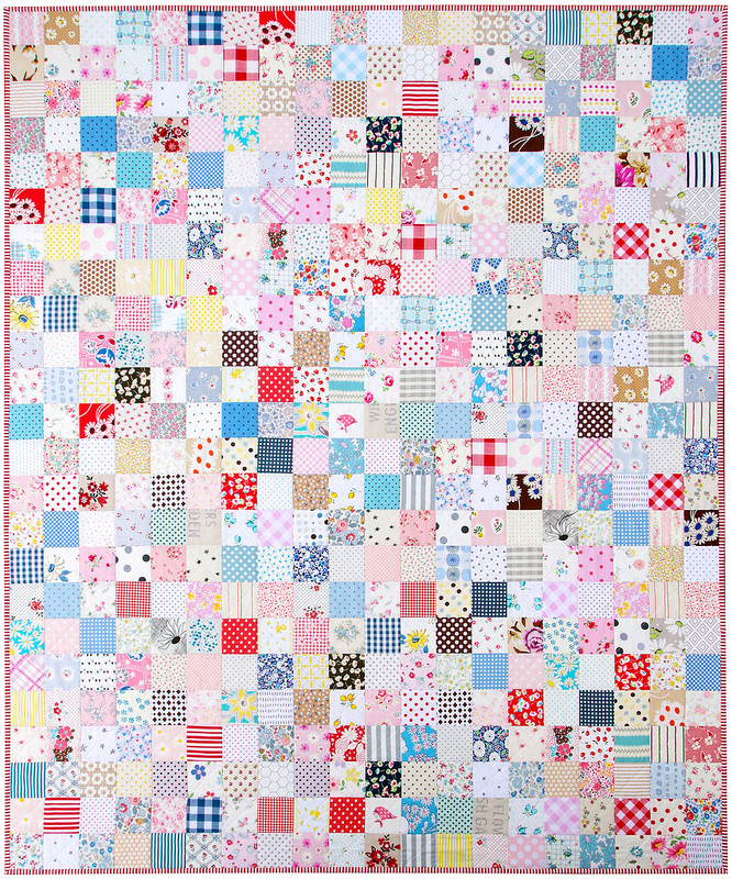 For the Love of Patchwork ~ Finished Quilt | © Red Pepper Quilts 2017