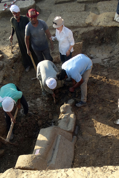 Statues of ancient Egyptian lioness deity Sekhmet uncovered in Luxor