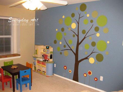 Tree Mural For Kids Room