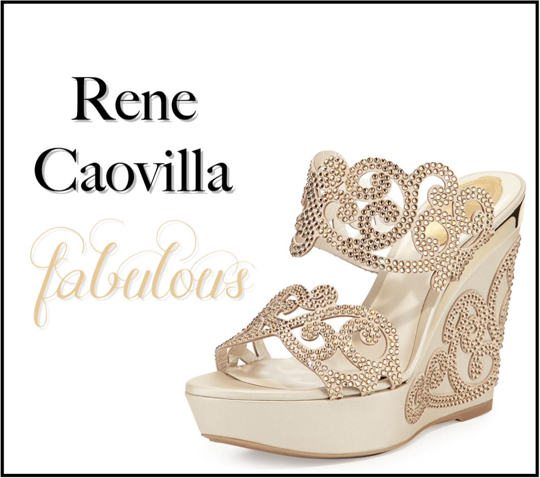 c5a8ad3aa3207 The fabulous Rene Caovilla is known for his elegant bejeweled shoes that  are truly a work of art. Most of the signature shoes are embellished with  Swarovski ...