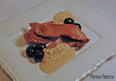 recette d'aiguillettes de canard sauce pain d'épice, recette festive, plat festif, aiguillette de canard, sauce pain d'épices