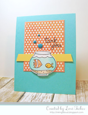 Tank You card-designed by Lori Tecler/Inking Aloud-stamps and dies from Lawn Fawn