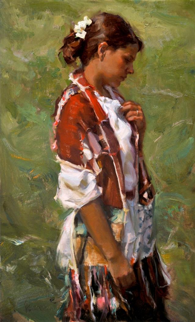 Johanna Harmon 1968   American Figurative painter   Spring's Warmth