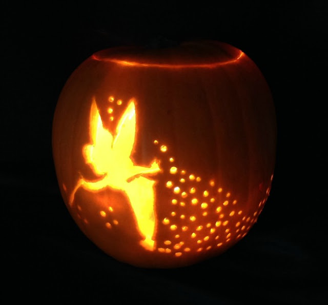 How-to-carve-a-pumpkin-Pumpkin-carved-with-Tinkerbell-lit-up