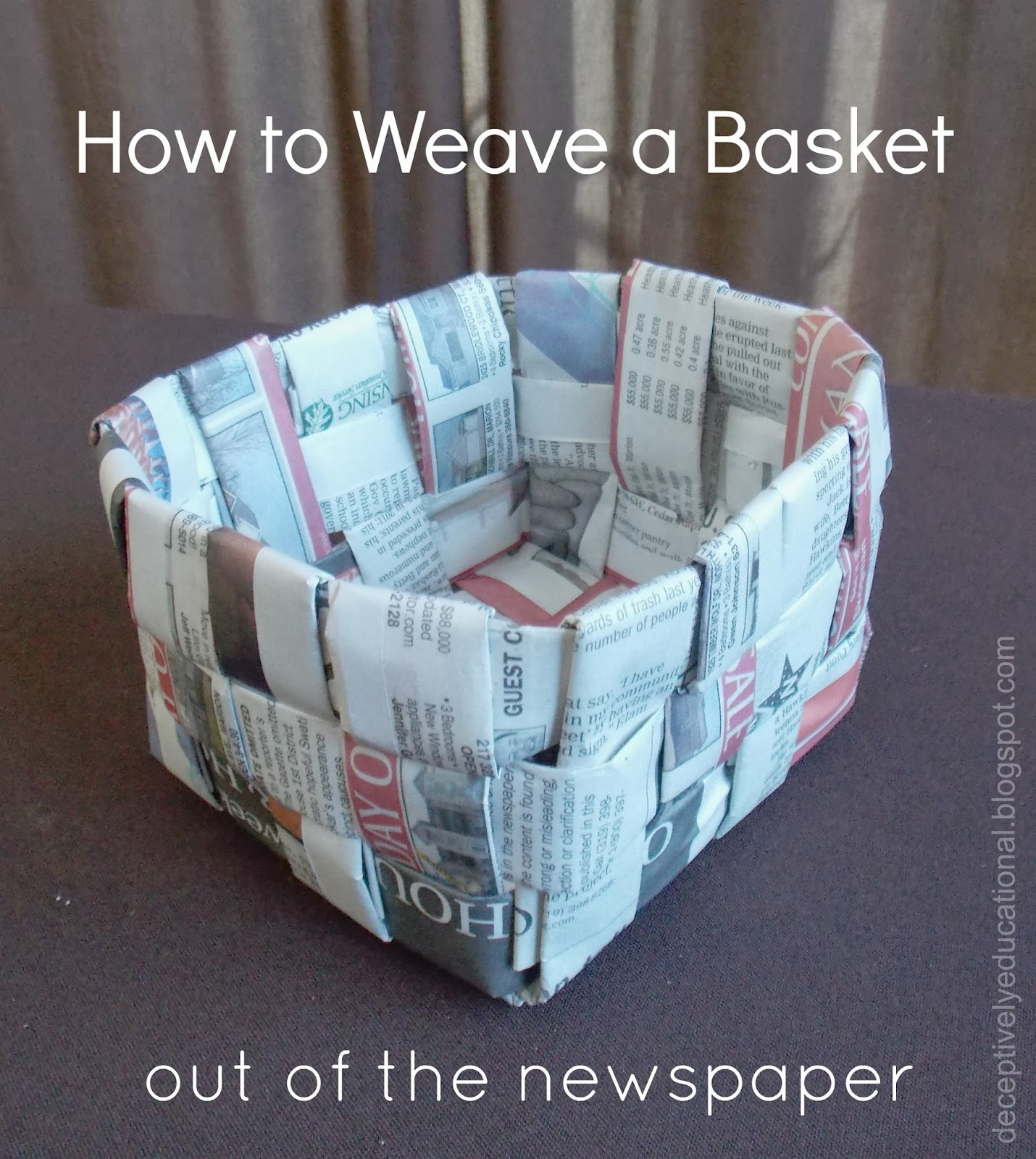 Easy Art And Craft Ideas With Newspaper