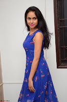 Pallavi Dora Actress in Sleeveless Blue Short dress at Prema Entha Madhuram Priyuraalu Antha Katinam teaser launch 062.jpg