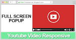 Full Screen PopUp Video Youtube Responsive