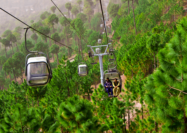 The ever green and beauty of a ride the PATRIATA CHAIR LIFT & CABLE ride takes you across some beautiful scenery and wonderful atmosphere on 8000 feet above sea-level