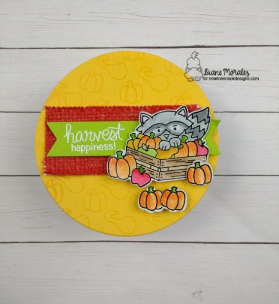 Harvest Happiness by Diane features Harvest Tails and Frames & Flags by Newton's Nook Designs; #newtonsnook