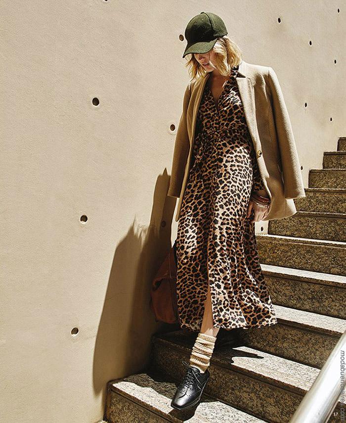 Vestidos animal print invierno 2019. Moda otoño invierno 2019 Argentina. │ Moda Argentina. │ Moda invierno 2019.