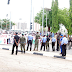 Bukola Saraki's Supporters Stage Protest In Front Of The National Assembly, Abuja. [PHOTOS]