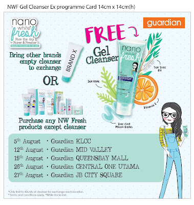 Free Nanowhite Fresh Gel Cleanser Exchange Program Guardian