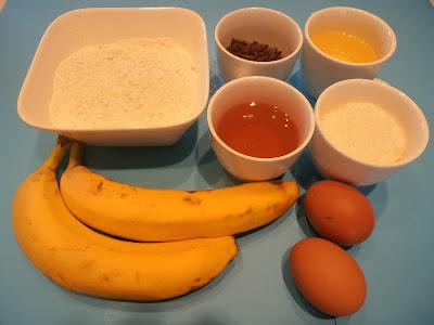 κέικ μπανάνας με σοκολάτα