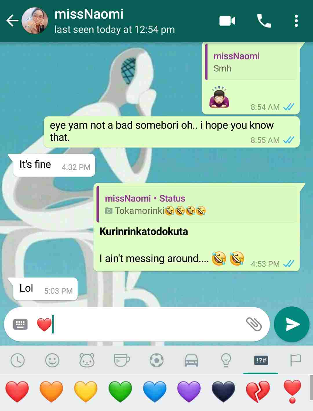 WhatsApp Red Heart Emoji