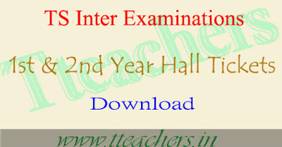 TS Inter exam hall tickets 2018 download 1st year  2nd year hall ticket