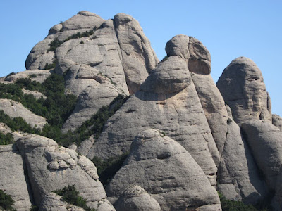 Montserrat Mountains hide curious shapes