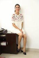 Lavanya Tripathi in Summer Style Spicy Short White Dress at her Interview  Exclusive 132.JPG