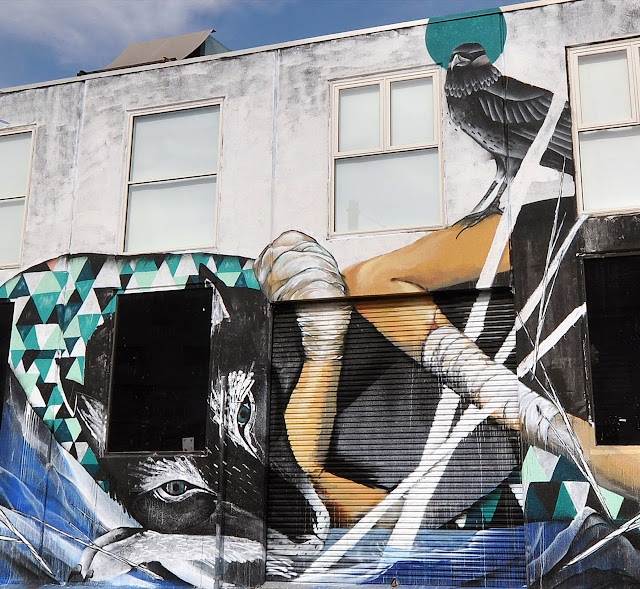 Street Art Collaboration by Shida, Two one, Eno, Taylurk in East Brunswick Melbourne. 4