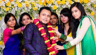 Mishu Sabbir And His Wife Shamma Holud Wedding Group Photos