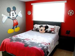 Contoh Dekorasi Kamar Anak Tema Mickey Mouse