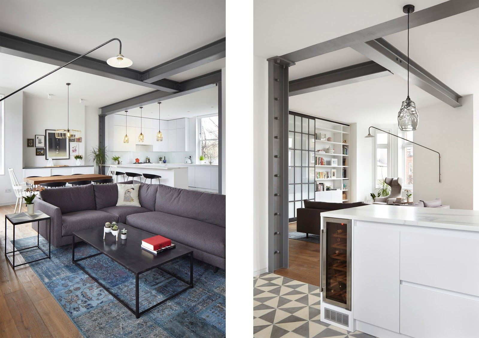 Appartamento In Un Palazzo Del 19° Secolo A Londra By Rise Design  #795E49 1600 1131 Come Arredare Cucina Con Travi A Vista