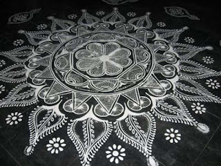 rangoli for pongal festival