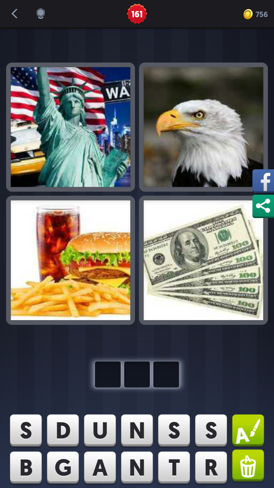 4 Pics 1 Word Answers Solutions Level 161 Usa